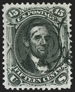 Sale Number 1172, Lot Number 535, 1861-68 Issues, 1875 Re-Issue (Scott 65-105)15c Black, F. Grill (98), 15c Black, F. Grill (98)