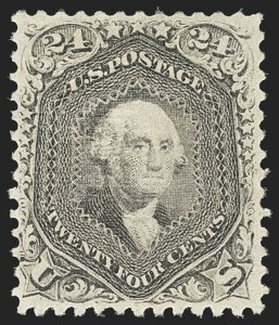 Sale Number 1172, Lot Number 536, 1861-68 Issues, 1875 Re-Issue (Scott 65-105)24c Gray Lilac, F. Grill (99), 24c Gray Lilac, F. Grill (99)