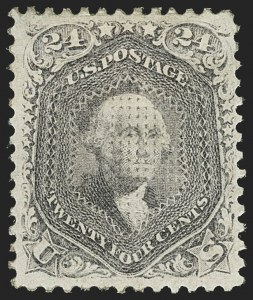 Sale Number 1172, Lot Number 537, 1861-68 Issues, 1875 Re-Issue (Scott 65-105)24c Gray Lilac, F. Grill (99), 24c Gray Lilac, F. Grill (99)