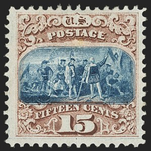 Sale Number 1172, Lot Number 546, 1869 Pictorial Issue (Scott 112-122)15c Brown & Blue, Ty. I (118), 15c Brown & Blue, Ty. I (118)