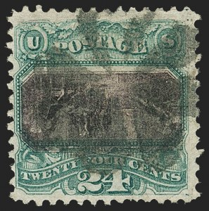 Sale Number 1172, Lot Number 552, 1869 Pictorial Issue Inverts (Scott 119b-120b)24c Green & Violet, Center Inverted (120b), 24c Green & Violet, Center Inverted (120b)
