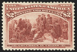 Sale Number 1172, Lot Number 576, 1893 Columbian Issue (Scott 230-245)$2.00 Columbian (242), $2.00 Columbian (242)