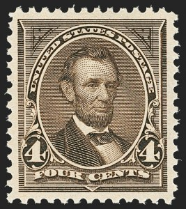 Sale Number 1172, Lot Number 581, 1894-98 Bureau Issues (Scott 246-284)4c Dark Brown (269), 4c Dark Brown (269)