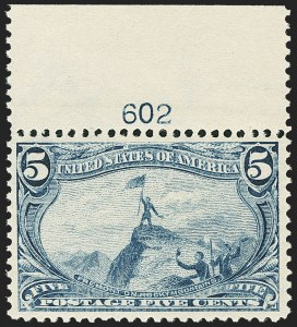 Sale Number 1172, Lot Number 592, 1898 Trans-Mississippi Issue (Scott 285-293)5c Trans-Mississippi (288), 5c Trans-Mississippi (288)