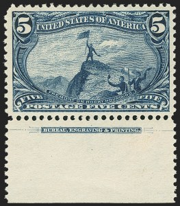 Sale Number 1172, Lot Number 593, 1898 Trans-Mississippi Issue (Scott 285-293)5c Trans-Mississippi (288), 5c Trans-Mississippi (288)