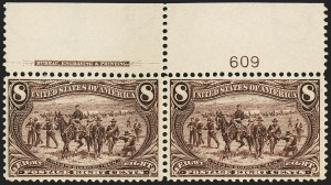 Sale Number 1172, Lot Number 597, 1898 Trans-Mississippi Issue (Scott 285-293)8c Trans-Mississippi (289), 8c Trans-Mississippi (289)