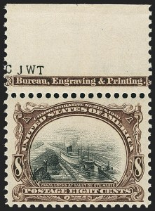 Sale Number 1172, Lot Number 611, 1901 Pan-American Issue (Scott 294-299)8c Pan-American (298), 8c Pan-American (298)