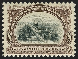 Sale Number 1172, Lot Number 612, 1901 Pan-American Issue (Scott 294-299)8c Pan-American (298), 8c Pan-American (298)