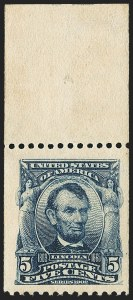 Sale Number 1172, Lot Number 625, 1902-08 Issues (Scott 300-320)5c Blue, Coil (317), 5c Blue, Coil (317)