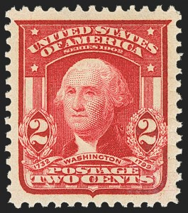 Sale Number 1172, Lot Number 626, 1902-08 Issues (Scott 300-320)2c Carmine, Ty. I (319), 2c Carmine, Ty. I (319)