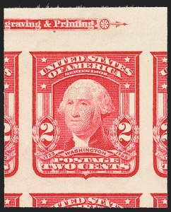 Sale Number 1172, Lot Number 627, 1902-08 Issues (Scott 300-320)2c Carmine, Ty. I, Imperforate (320), 2c Carmine, Ty. I, Imperforate (320)
