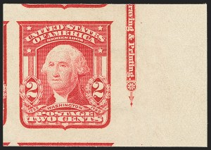 Sale Number 1172, Lot Number 628, 1902-08 Issues (Scott 300-320)2c Carmine, Ty. I, Imperforate (320), 2c Carmine, Ty. I, Imperforate (320)