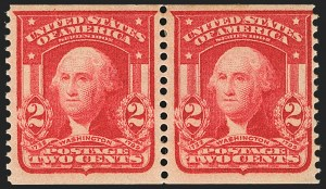 Sale Number 1172, Lot Number 629, 1902-08 Issues (Scott 300-320)2c Scarlet, International Vending Machine Co., Perforated Approximately 12-1/2 (320b var), 2c Scarlet, International Vending Machine Co., Perforated Approximately 12-1/2 (320b var)
