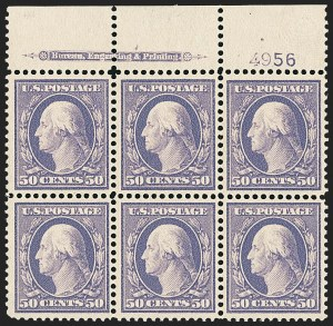 Sale Number 1172, Lot Number 638, 1908-10 Washington-Franklin Issues (Scott 331-356)50c Violet (341), 50c Violet (341)