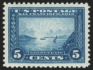 Sale Number 1172, Lot Number 688, 1913-15 Panama-Pacific Issue (Scott 397-404)5c Panama-Pacific (399), 5c Panama-Pacific (399)