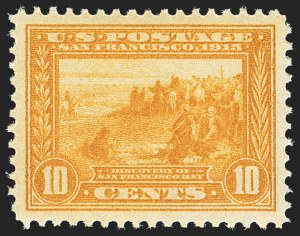 Sale Number 1172, Lot Number 690, 1913-15 Panama-Pacific Issue (Scott 397-404)10c Orange Yellow, Panama-Pacific (400), 10c Orange Yellow, Panama-Pacific (400)