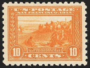 Sale Number 1172, Lot Number 695, 1913-15 Panama-Pacific Issue (Scott 397-404)10c Panama-Pacific, Perf 10 (404), 10c Panama-Pacific, Perf 10 (404)