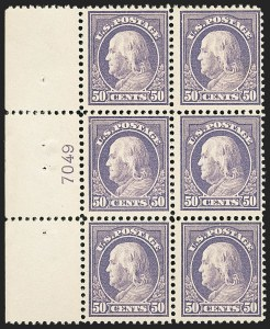 Sale Number 1172, Lot Number 718, 1912-14 Washington-Franklin Issue (Scott 405-423)50c Violet (421), 50c Violet (421)