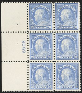 Sale Number 1172, Lot Number 727, 1913-15 Washington-Franklin Issues (Scott 424-446)20c Ultramarine (438), 20c Ultramarine (438)