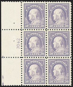 Sale Number 1172, Lot Number 731, 1913-15 Washington-Franklin Issues (Scott 424-446)50c Violet (440), 50c Violet (440)