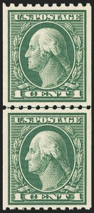 Sale Number 1172, Lot Number 732, 1913-15 Washington-Franklin Issues (Scott 424-446)1c Green, Coil (441), 1c Green, Coil (441)