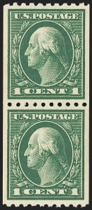 Sale Number 1172, Lot Number 733, 1913-15 Washington-Franklin Issues (Scott 424-446)1c Green, Coil (441), 1c Green, Coil (441)
