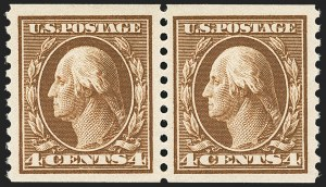 Sale Number 1172, Lot Number 749, 1913-15 Washington-Franklin Issues (Scott 424-446)4c Brown, Coil (446), 4c Brown, Coil (446)