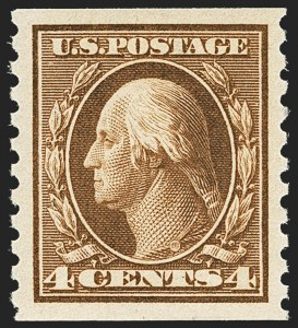 Sale Number 1172, Lot Number 750, 1913-15 Washington-Franklin Issues (Scott 424-446)4c Brown, Coil (446), 4c Brown, Coil (446)