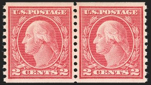 Sale Number 1172, Lot Number 775, 1913-15 Washington-Franklin Issues (Scott 447-461)2c Carmine, Ty. III, Coil (455), 2c Carmine, Ty. III, Coil (455)