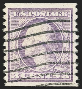 Sale Number 1172, Lot Number 779, 1913-15 Washington-Franklin Issues (Scott 447-461)3c Violet, Coil (456), 3c Violet, Coil (456)