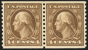 Sale Number 1172, Lot Number 781, 1913-15 Washington-Franklin Issues (Scott 447-461)4c Brown, Coil (457), 4c Brown, Coil (457)
