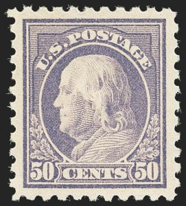 Sale Number 1172, Lot Number 800, 1916-17 Issues (Scott 462-480)50c Light Violet (477), 50c Light Violet (477)