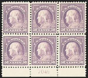 Sale Number 1172, Lot Number 822, 1917-19 Issues (Scott 481-524)50c Red Violet (517), 50c Red Violet (517)