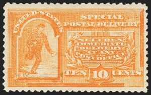 Sale Number 1172, Lot Number 909, Special Delivery thru Parcel Post10c Orange, Special Delivery (E3), 10c Orange, Special Delivery (E3)