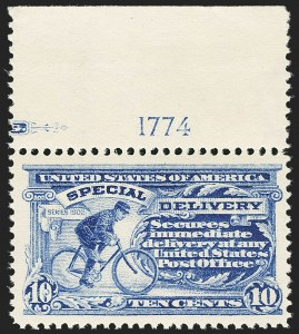 Sale Number 1172, Lot Number 911, Special Delivery thru Parcel Post10c Ultramarine, Special Delivery (E6), 10c Ultramarine, Special Delivery (E6)