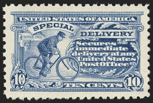 Sale Number 1172, Lot Number 912, Special Delivery thru Parcel Post10c Ultramarine, Special Delivery (E9), 10c Ultramarine, Special Delivery (E9)