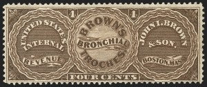 Sale Number 1173, Lot Number 2034, John I. Brown and SonJohn I. Brown & Son, 4c Brown, Old Paper (RS41a), John I. Brown & Son, 4c Brown, Old Paper (RS41a)