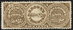 Sale Number 1173, Lot Number 2035, John I. Brown and SonJohn I. Brown & Son, 4c Brown, Silk Paper (RS41b), John I. Brown & Son, 4c Brown, Silk Paper (RS41b)