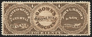 Sale Number 1173, Lot Number 2036, John I. Brown and SonJohn I. Brown & Son, 4c Brown, Watermarked Paper (RS41d), John I. Brown & Son, 4c Brown, Watermarked Paper (RS41d)