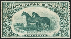 Sale Number 1173, Lot Number 2058, Dalley's Galvanis Horse Salve thru Fleming BrothersDalley's Galvanic Horse Salve, 2c Green, Watermarked Paper (RS73d), Dalley's Galvanic Horse Salve, 2c Green, Watermarked Paper (RS73d)