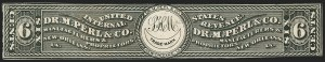 Sale Number 1173, Lot Number 2143, Thomas W. Marsden thru Bennett Pieters and Co.Dr. M. Perl & Co., 6c Black, Old Paper (RS188a), Dr. M. Perl & Co., 6c Black, Old Paper (RS188a)