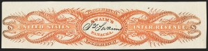 Sale Number 1173, Lot Number 2167, James and William SwainJames Swaim, 8c Orange, Old Paper, Imperforate (RS232a), James Swaim, 8c Orange, Old Paper, Imperforate (RS232a)