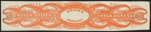 Sale Number 1173, Lot Number 2171, James and William SwainWilliam Swaim, 8c Orange, Old Paper, Imperforate, Without Signature (RS234ak), William Swaim, 8c Orange, Old Paper, Imperforate, Without Signature (RS234ak)