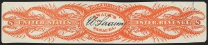 Sale Number 1173, Lot Number 2172, James and William SwainWilliam Swaim, 8c Orange, Silk Paper, Imperforate (RS234b), William Swaim, 8c Orange, Silk Paper, Imperforate (RS234b)