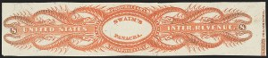 Sale Number 1173, Lot Number 2173, James and William SwainWilliam Swaim, 8c Orange, Silk Paper, Imperforate, Without Signature (RS234bk), William Swaim, 8c Orange, Silk Paper, Imperforate, Without Signature (RS234bk)