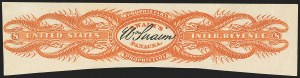 Sale Number 1173, Lot Number 2174, James and William SwainWilliam Swaim, 8c Orange, Watermarked Paper, Imperforate (RS234d), William Swaim, 8c Orange, Watermarked Paper, Imperforate (RS234d)