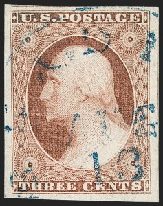Sale Number 1174, Lot Number 10, 1851-56 Issue (Scott 5-17)3c Dull Red, Ty. II (11A), 3c Dull Red, Ty. II (11A)