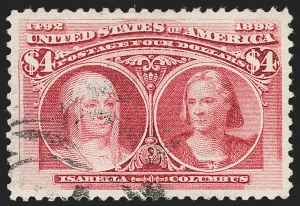 Sale Number 1174, Lot Number 100, $1.00-$5.00 1893 Columbian Issue (Scott 241-245)$4.00 Columbian (244), $4.00 Columbian (244)