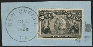 Sale Number 1174, Lot Number 108, $1.00-$5.00 1893 Columbian Issue (Scott 241-245)$5.00 Columbian (245), $5.00 Columbian (245)