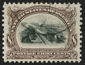 Sale Number 1174, Lot Number 140, 1901 Pan-American Issue (Scott 294-299)8c Pan-American (298), 8c Pan-American (298)